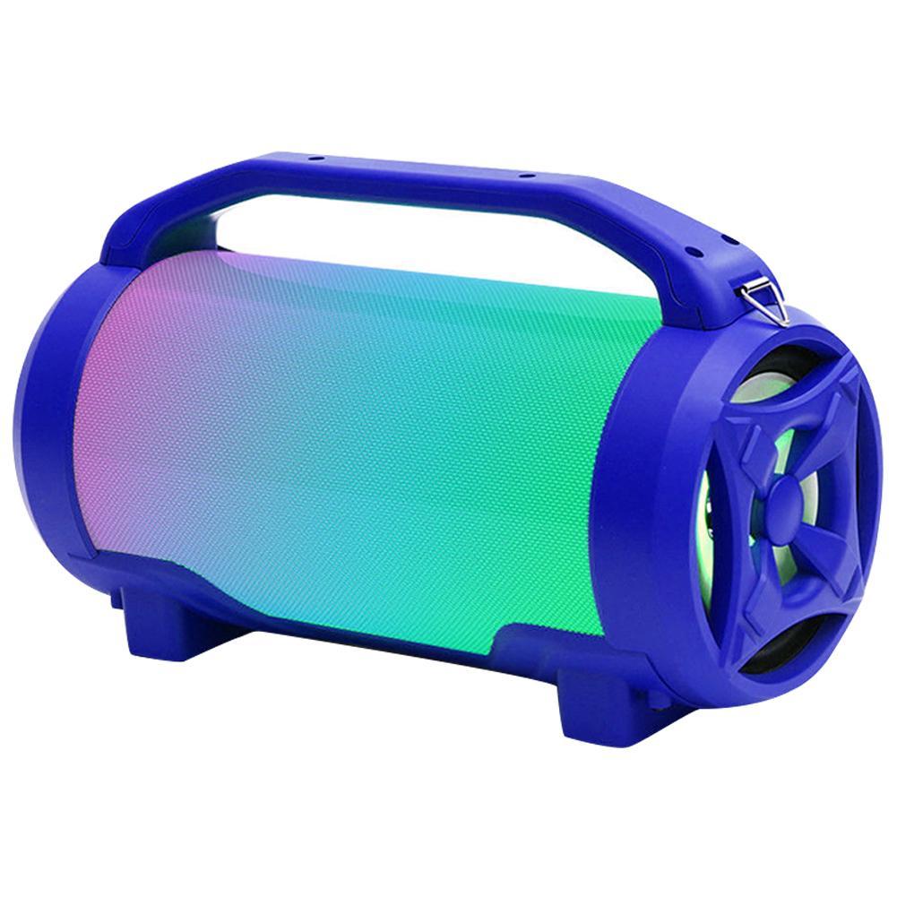 Nouveau Led coloré sans fil Bluetooth haut-parleur stéréo Subwoofer Portable Support TF carte FM Radio basse extérieur Microphone intégré