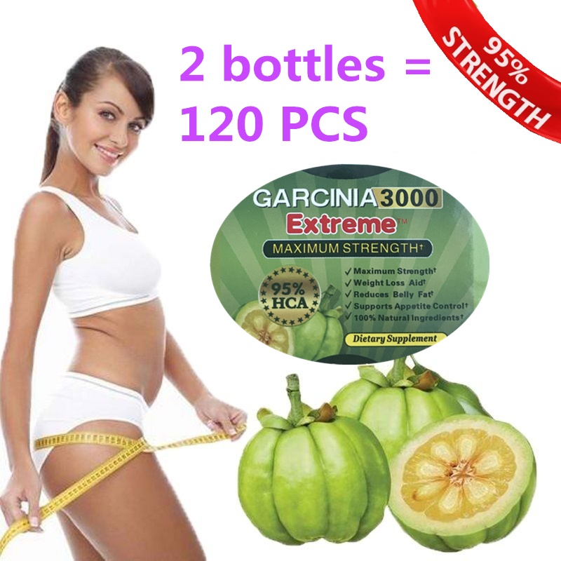 2 bottles = 120 pcs Pure garcinia cambogia extracts weight loss 95% HCA 100% effective for slimming supplement все цены