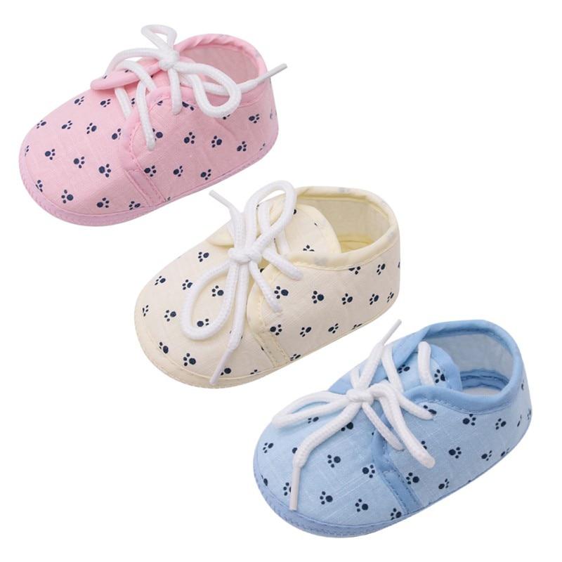 WEIXINBUY Shoes Prewalker Crib Toddler Girls Infant Anti-Slip Soft 0-18-Months Cotton
