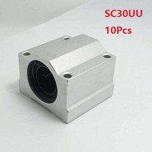 10 pçs/lote SC30UU SCS30UU 30mm unidade caso linear bloco de guia linear do eixo linear blocos para CNC router rolamento 3D peças de impressora