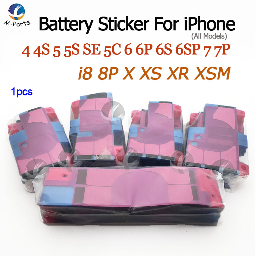 Battery Adhesive Sticker For iPhone XS Max XR X 8 Plus 7 Plus 6S 6 Plus 5S SE 5C 5 4S 4 Anti-Static Battery Glue Tape Strip Tab