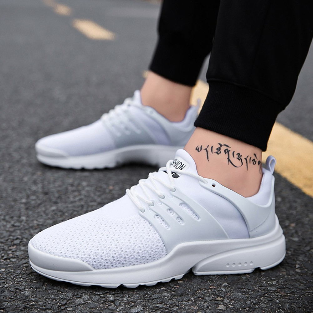 5efbb224b1 US $8.44 35% OFF Aliexpress.com : Buy Casual Shoes Sneakers Breathable Plus  Size Big 4Colors Black White Green Blue Shoes Breathable Mesh Upper ...