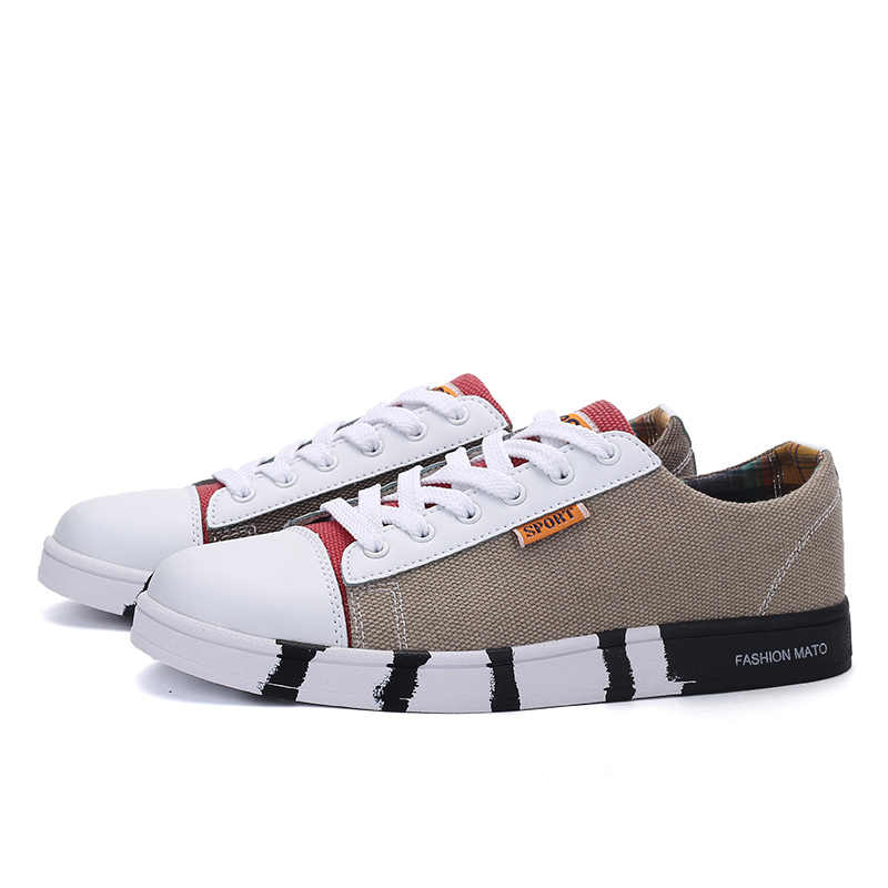 2018 Mannen Schoenen Mode Canavs schoenen Lace Up Ronde Neus Ademende Casual Schoenen Mannen Platte Vrijetijdsbesteding Merk Schoenen Mannen Chaussures homme