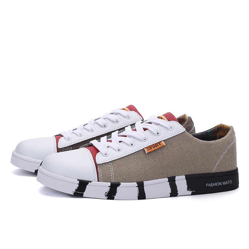 2018 รองเท้าผู้ชายรองเท้าแฟชั่นผ้าใบรองเท้ารองเท้าลูกไม้ขึ้นรอบ Toe Breathable Casual รองเท้าผู้ชายแบรนด์รองเท้า Chaussures homme