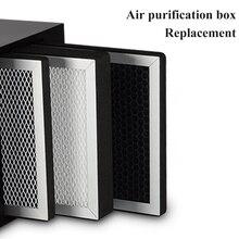 Замена фильтра для коробки очистки воздуха с активированным углем, металлический очиститель воздуха, высокоэффективный hepa фильтр для удаления PM2.5