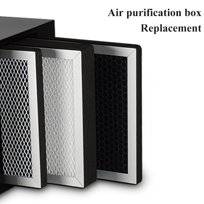 Filter Replacement For Air Purification Box With Actived Carbon, Metal Air Purifier, High Efficient Hepa Filter To Remove PM2.5