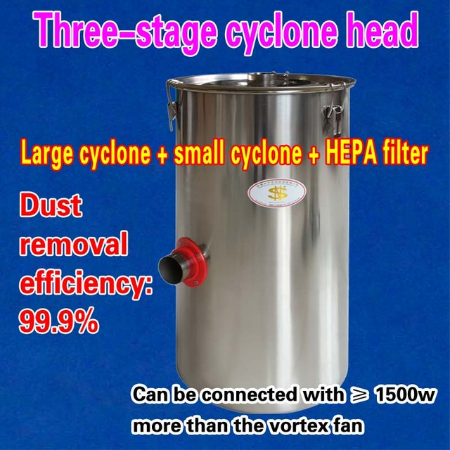 Three-stage cyclone head = Large cyclone + small cyclone + HEPA filter (1 piece)