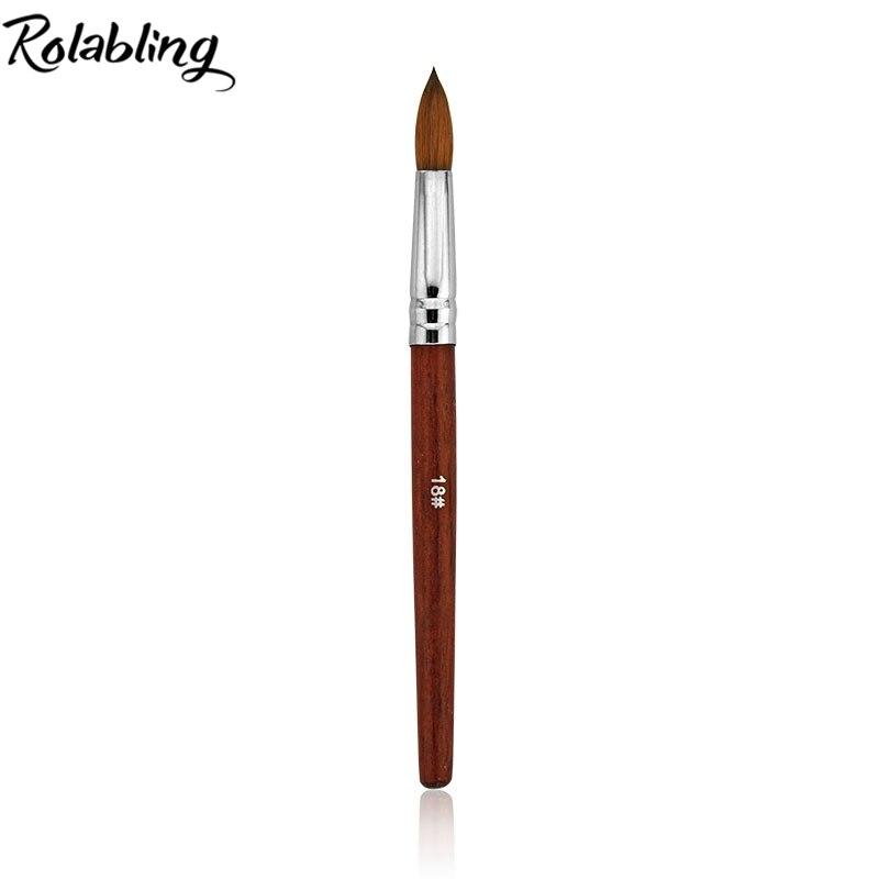 2017 Size18# 5pcs/Lot 100% Kolinsky Sable Pen With Red Wood Handle Nail Art Brush for Gel Nail Pen Acrylic Brush Kolinsky цены онлайн