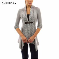 Cardigans For Women Twist Knitted Sweater Jacket Coat 2017 Autumn Long Sleeve Casual Plus Size 5XL
