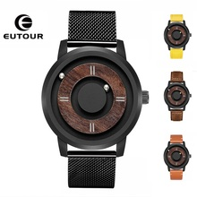 2019 EUTOUR Magnetic Ball Mens Watches Wterproof Top Brand Luxury Quartz Watch Women Man Stainless Steel Casual Wrist