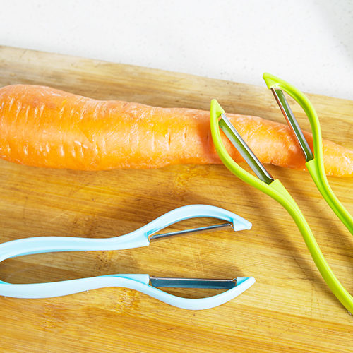 Multipurpose Candy color can hang double sided peeler 16 5 6 2 2 1cm free shipping in Peelers Zesters from Home Garden