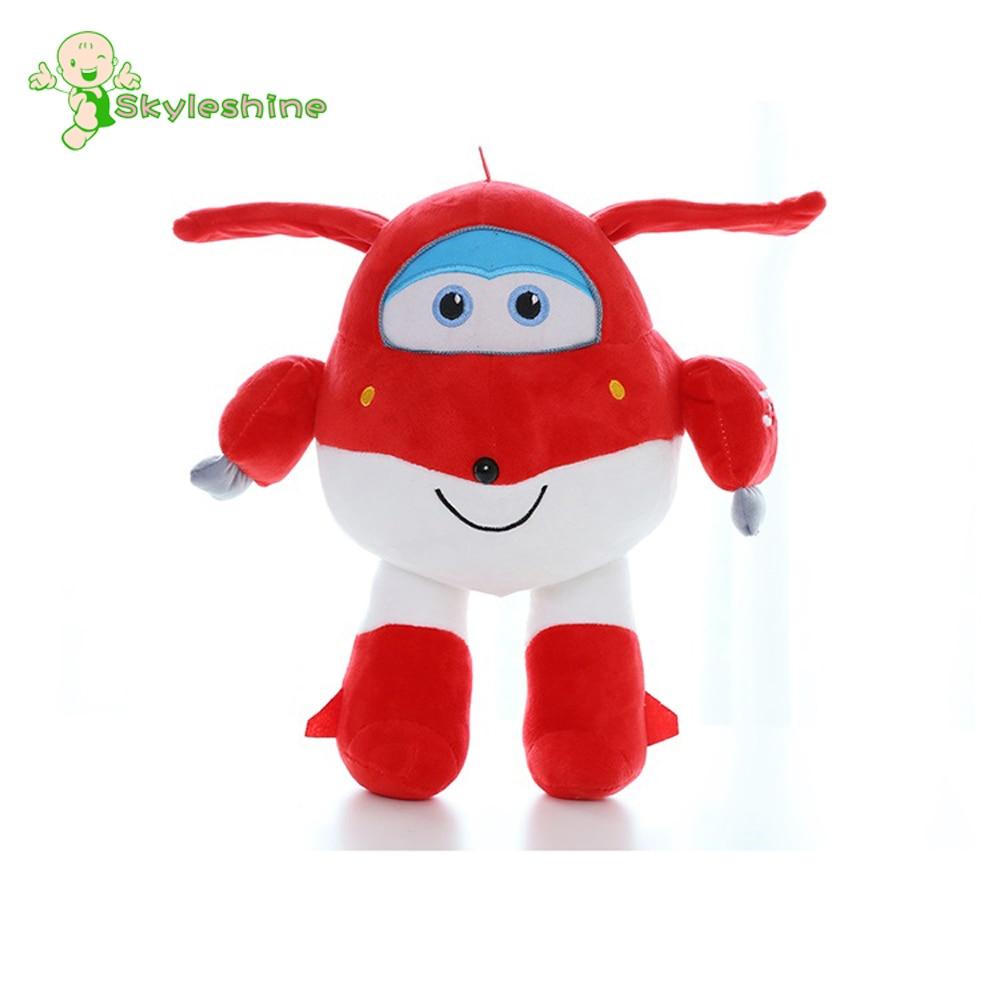 US $12 68 Skyleshine 25cm Super Wings Jett Cartoon Plush Toys Stuffed Kawaii Cute Red Helicopter Gift For Children ML238 Plush Toys Toy