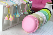 Hot macaroon colors noodle earphones in ear for iphone samsung xiaomi mobile phone 6 free shipping