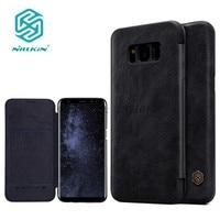 For Samsung Galaxy S8 Plus S8 Flip Case Nillkin Qin PU Flip Cover Case For Samsung
