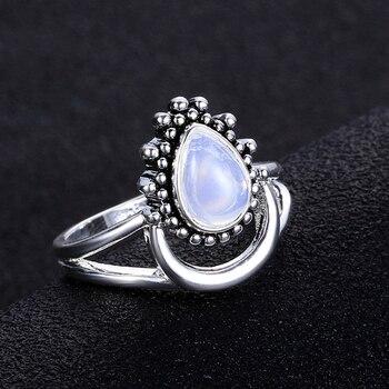 925 Silver Women's Vintage Punk Jewellery Ring