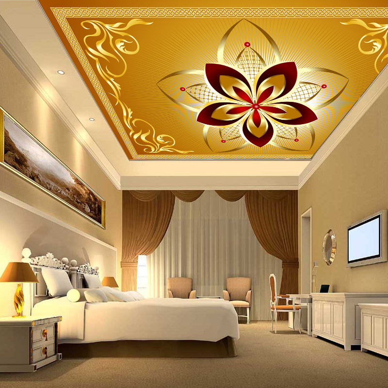 Custom 3D Continental suspended ceiling 3D wallpaper murals 3D wallpaper 3D wallpaper backdrop living room Hotel custom 3d stereo ceiling mural wallpaper beautiful starry sky landscape fresco hotel living room ceiling wallpaper home decor 3d