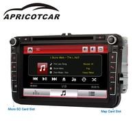 APRICOTCAR 2 Din 8 Inch Car DVD Player For Car Multimedia Player GPS Navigation HD Bluetooth