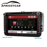 APRICOTCAR 2 Din 8 Inch Car DVD Player For Car Multimedia Player GPS Navigation HD Bluetooth