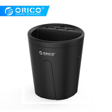 ORICO 3 Ports USB Car Charging Cup Phone Charger with Intelligent Fast Charging IC For Mobile Phone Tablet for iphone XS huawei(China)