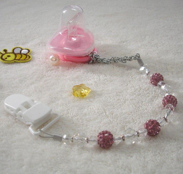 MIYOCAR Bedøvelse Prinsesse pink bling krystal håndlavet pacifier - Fodring et barn - Foto 6
