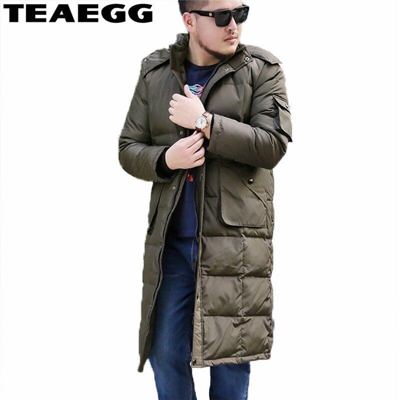 Manteau d'hiver TEAEGG doudoune homme 5XL 6XL 7XL 8XL duvet de canard blanc pour homme 2019 Chaqueta Pluma Hombre Parkas chaud AL273