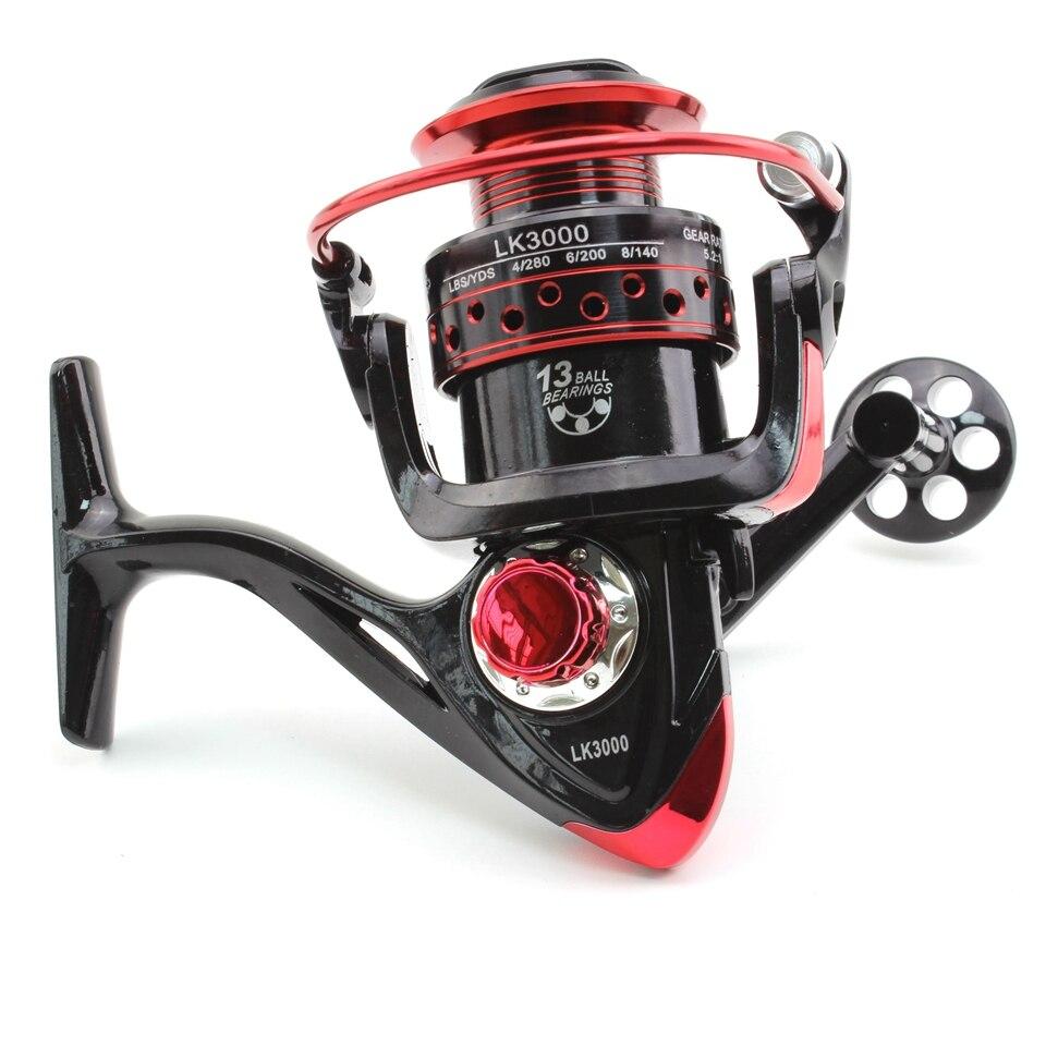 2000 3000 4000 Series LK Spinning Fishing Reel Fishing Wheel For Saltwater Metal Spool Fishing Reels Metal Coil Fishing Tackle