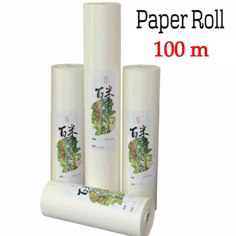 100m Rice Paper Roll Chinese for Painting paper And Calligraphy paper for Painting art paper supplies 45cm 10m water color painting paper a2 watercolor paper for acrylic paint painting drawing art set rice paper roll