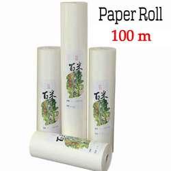 Rollo de papel de arroz de 100 m, papel chino para pintar y caligrafía, papel para pintar arte, suministros de papel