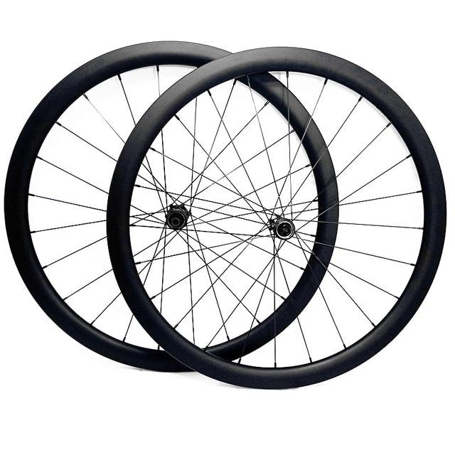 700c strada ruote a disco 50x27 millimetri tubeless Freno A Disco della bici della strada ruote NOVATEC 100x12mm 142x 12mm Center lock strada ruota a disco in carbonio