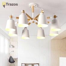 TRAZOS 북유럽 나무 LED 천장 조명 거실 침실 어린이 방 천장 조명 현대 lustres 드 sala plafon