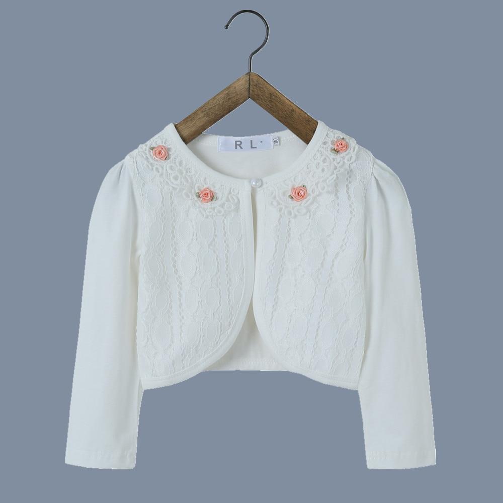 RL Dívky Svetr Cardigan Sweet Oblečení pro svatební bundy Pro dívky Kabát Dětské oblečení pro 1 2 3 4 6 8 10 12 let starý