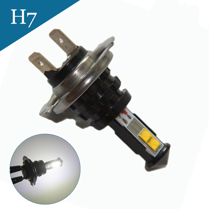 2pcs H7 led High Power 40W White Light Car LED Bulb car led bulbs Car Light Source parking 12V  6000K Head Fog Lamps