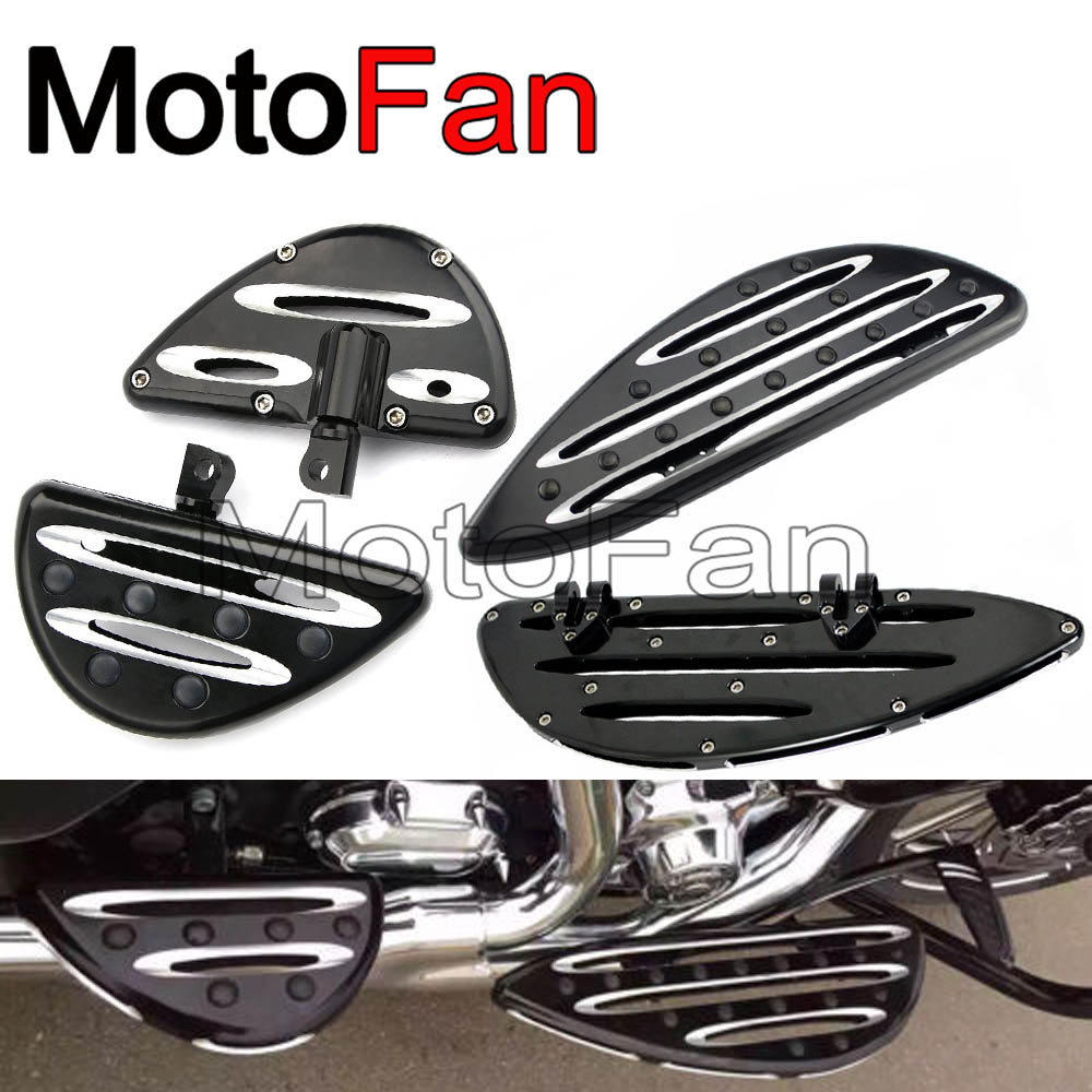 Custom Motorcycle Driver Floorboards Passenger Foot Pegs Black For Harley Davidson Touring Road King Softail Dyna FLD 1984- 2018
