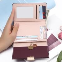 Компактный кошелёк цвета бургунди