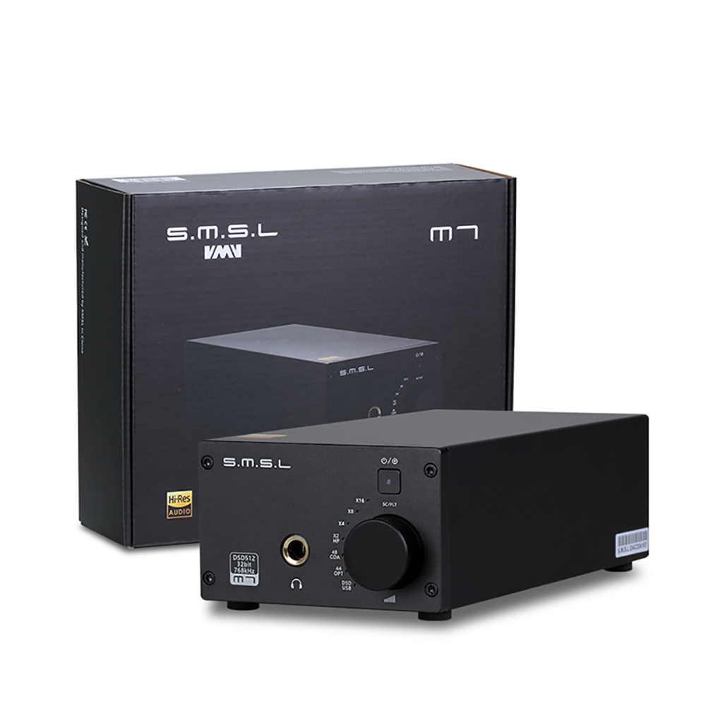SMSL M7 AK4452 x2 32Bit/768KHz DSD512 Hifi Audio USB DAC with Headphone Amplifier