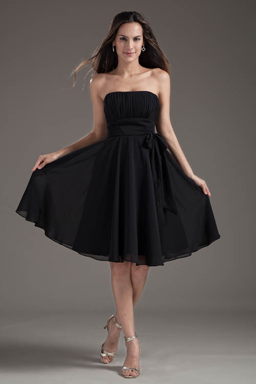 Babyonlinedress Black Chiffon Short   Bridesmaid     Dresses   with Sashes Backless Wedding Party   Dresses   Robe Demoiselle D'honneur