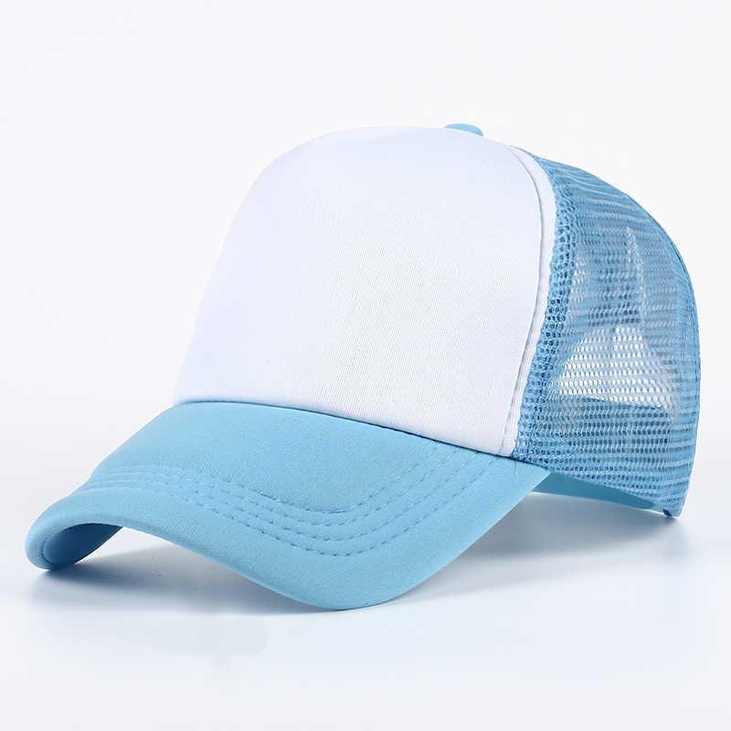 767df93d46e 11 color Wholesale and retail Trucker Mesh Hats Summer Women Blank Mesh  Snapback Cap Spring Mens