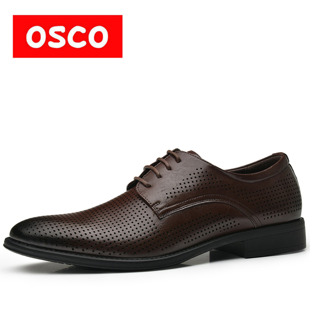 OSCO ALL SEASON New Men Shoes Fashion Men Casual Breathable Shoes Men made leather shoes #995706