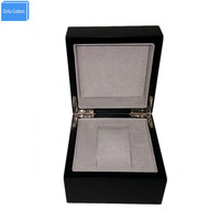 Black Leather Carbon Fiber Pu Watch Box With Pillow Velvet Display Storage Customize Print Logo For