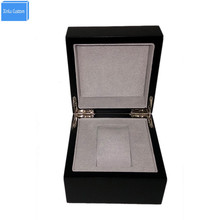 Special for Customer Black Wood Inner Gray Velvet Watch Box Case Storage Promotion Custom Boxes With Personal Logo Suppliers