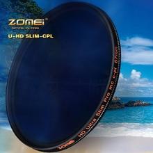 ZOMEi HD W MC CPL מסנן 18 שכבה רב מצופה עגול מקטב עדשת מסנן 40.5/49/52/ 55/58/62/67/72/77/82mm עבור DRSL