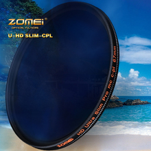 ZOMEi HD W MC CPL Filter 18 layer Multi Coated Circular Polarizer lens filter 40.5/49/52/55/58/62/67/72/77/82mm for DRSL