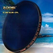 Zomei HD W mc cpl filtro 18 camada multi revestido circular polarizador lente filtro 40.5/49/52/55/58/62/67/72/77/82mm para drsl