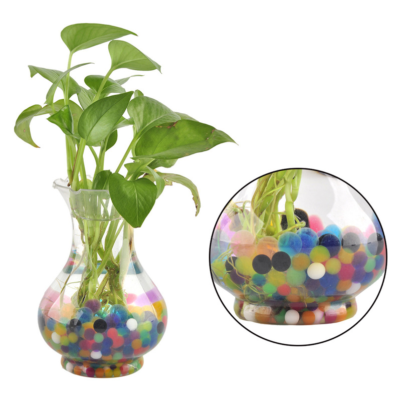 2000pcs Hydrogel Beads Crystal Soil Gel Growing Water Balls Plants Balloons Home Decor Wedding Garden Decor Accessories