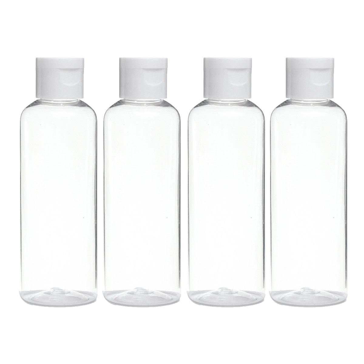 4PCS Empty Clear 100ml PET Cream Container  Portable Cosmetic Travel Shower Lotion Bottles Personalized Sample Lotion Bottle free shipping promotion 10pcs lot 100ml pet clear bottle 100ml flat lotion bottles sprayer bottles 100ml
