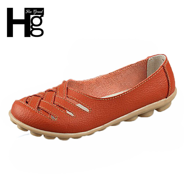 HEE GRAND Cross Straps Women Flat Shoes Artificial Leather Causal Drive Shoes Female Spring Summer Sandals XWZ132