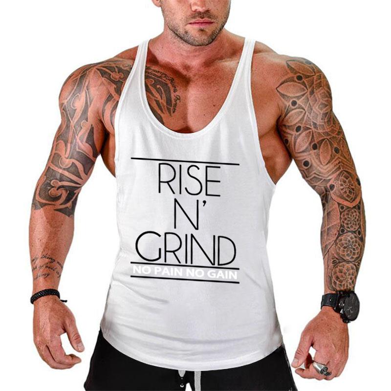 Fitness Tank Top Men Bodybuilding Stringer shirt gyms Clothing Men Shirt Crossfit Vests Cotton Singlets Muscle