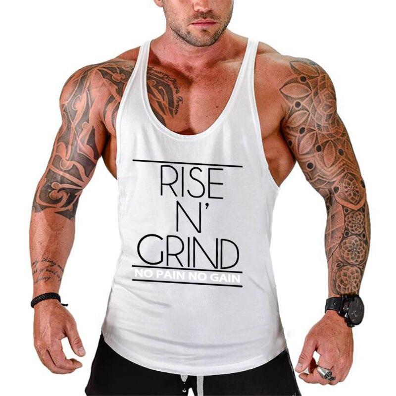 Fitness Tank Top Men Bodybuilding Stringer shirt gyms Clothing Men Shirt Workout Vests Cotton Singlets Muscle