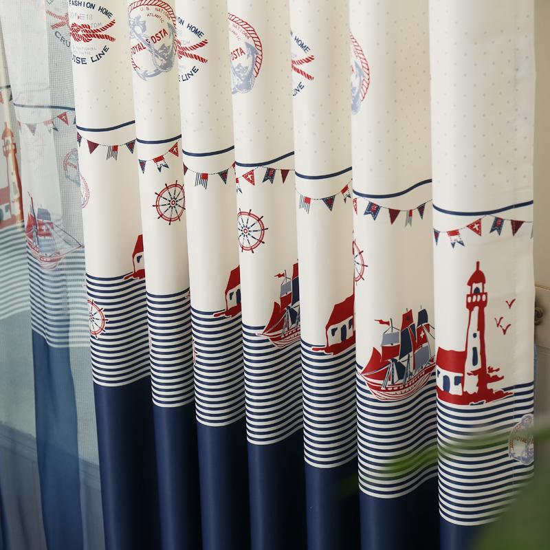 nuevas cortinas para ventana de la sala de nios cortina cortinas chinos ocano mediterrneo boy