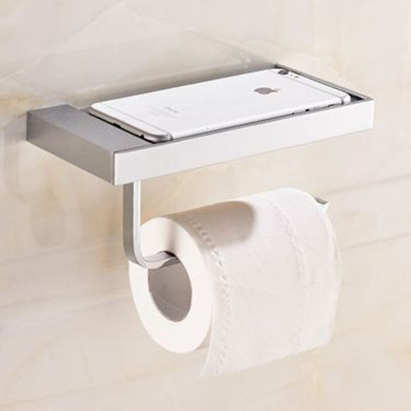 Xogolo Solid Brass Fashion Brief Wall Mounted Phone Shelf Bathroom Toilet Paper Towel Holder Roll Holder Accessories yanjun toilet anti drop paper jumbo roll holder wall mounted paper towel dispenser bathroom accessories yj 8621